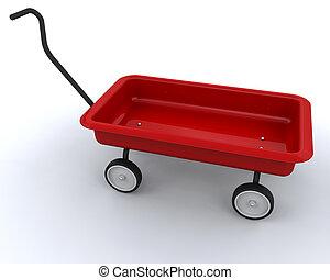 tehervagon, játékszer, piros