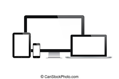 tehnology, sätta, nymodig, enheter
