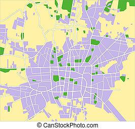 Vector map of Tehran.