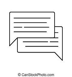 teia, ícone, app, isolado, ilustração, experiência., vetorial, fala, branca, alinhado, bolha, ou, design.