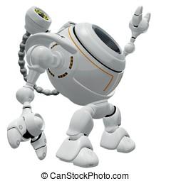 teia, alcançar, came, robô