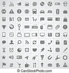 teia, aplicação, cobrança, ícones