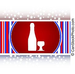 teia, botão, copo, garrafa, ícone