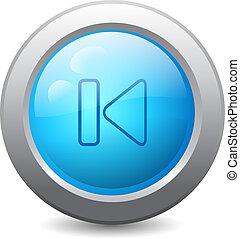 teia, botão, prévio