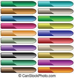 teia, botões, 20, brilhante, sortido, cores