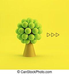 teia, conceito, tecnologia, mídia, negócio, rede, árvore., social, illustration., design., 3d