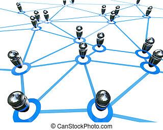 teia, conexão, global
