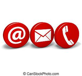 teia, contactar-nos, ícones