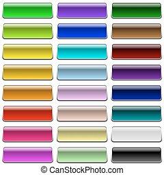 teia, cor, isolado, botões, experiência., em branco, branca