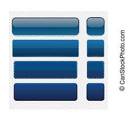 teia, dark-blue, modernos, buttons., high-detailed