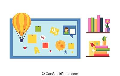 teia, elearning, ilustração, processo, ilustração, vetorial, desenho, educação online