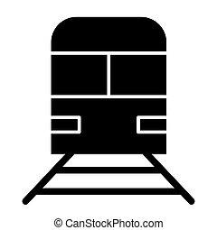 teia, estilo, vetorial, 10., app., sólido, isolado, ilustração, eps, bagagem, white., trem, projetado, icon., estrada ferro, desenho, metrô, glyph