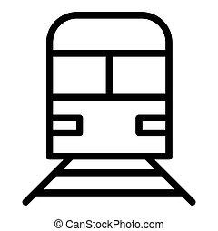 teia, estilo, vetorial, 10., esboço, bagagem, isolado, ilustração, eps, app., white., trem, projetado, icon., linha estrada ferro, desenho, metrô