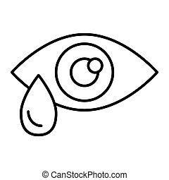 teia, estilo, white., 10., esboço, gota lágrima, isolado, ilustração, eps, app., vetorial, projetado, icon., olho, linha, desenho, magra