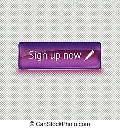 teia, illustration., vidro, botão, realístico, vetorial, interface.