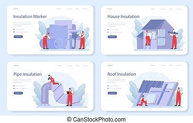 teia, insulation., isolação, página, térmico, ou, set., bandeira, aterragem, acústico