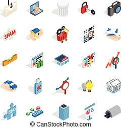 teia, interface, ícones, jogo, isometric, estilo