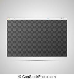 teia, janela, lugar, modelo, página, transparently, browser