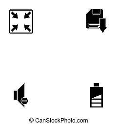 teia, jogo, ícone