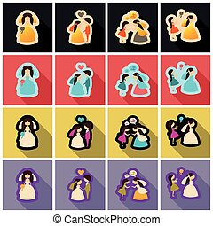 teia, jogo, -, casamento, casório, nupcial, ícone