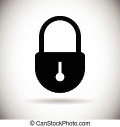 teia, jogo, fechadura, acesso, fechado, segurança, ícone