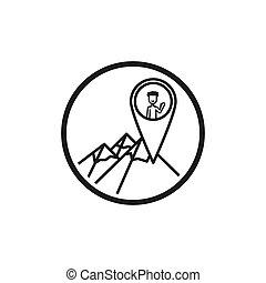 teia, móvel, app, isolado, vetorial, desenho, fundo, branca, ponteiro, seu, ícone