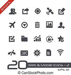 teia, &, móvel, icons-2, //, básico