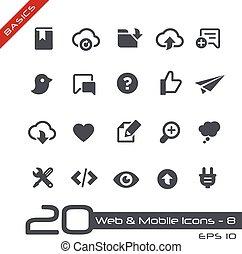 teia, &, móvel, icons-8, //, básico