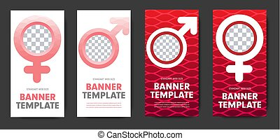 teia, mulher, símbolo gênero, desenho, branca, bandeiras, vermelho, homem