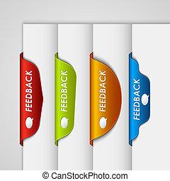 teia, realimentação, cor, etiqueta, bookmark, borda, página