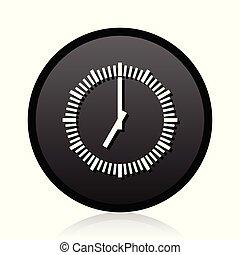 teia, reflexão, cromo, metálico, vetorial, experiência preta, tempo, branca, redondo, prata, ícone