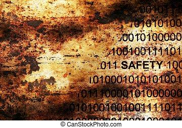 teia, segurança, dados, ligado, grunge, fundo