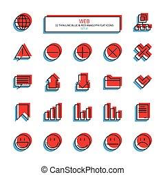 teia, set., icons., magra, interface, linha, essencial, ícone
