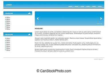 teia, site web, projete elemento, modelo