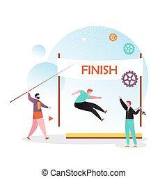 teia, site web, vetorial, página, conceito, atletismo, bandeira