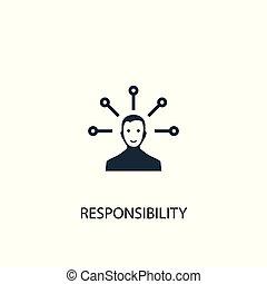 teia, usado, icon., símbolo, illustration., ser, simples, design., elemento, lata, responsabilidade, conceito