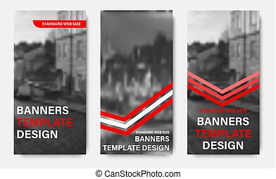teia, vertical, photo., vetorial, desenho, setas, lugar, bandeiras, fitas, branco vermelho