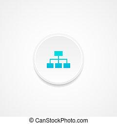 teia, vetorial, button., illustration.