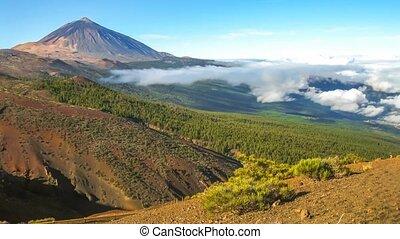 teide, volcan, cinemagraph