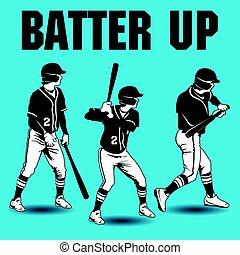 teig, baseball, auf, kunstwerk