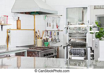 teigwaren- maschine, in, kommerzielle küche