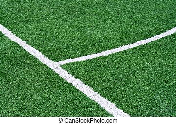 teil, der, boden, markierungen, von, football.