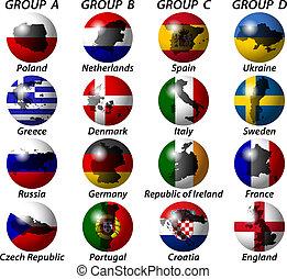 teilnehmen, länder, euro