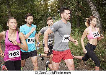teilnehmer, schnell, marathon