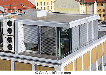 tejado, oficina
