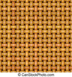 tejer, mimbre, seamless, textura, patrón, cesta