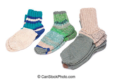 tejido, calcetines