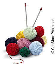 tejido de punto, lana, needlecraft