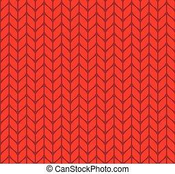 tejido de punto, plano, patrón, seamless