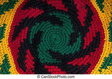 tejido de punto, rastafarian, hechaa mano, -, encima de...